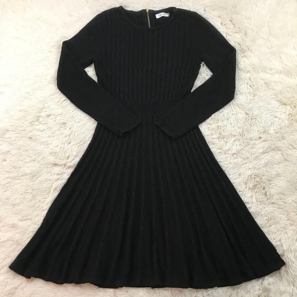 8fecf2e370b8 Calvin Klein Dresses & Skirts - Calvin Klein Fit & Flare Cable Knit Sweater  Dress